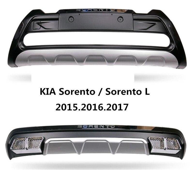Garde de pare-chocs automatique pour KIA Sorento / Sorento L 2015.2016.2017 haute qualité flambant neuf ABS plaque de protection avant + arrière accessoires de voiture