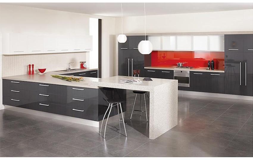 2016 New High Gloss Kitchen Doors Elegant Gray Part 25