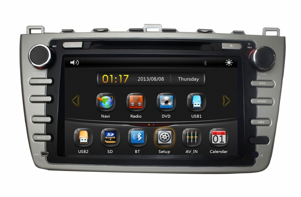 HD 2 din 8″ Car DVD Player for MAZDA 6 Ruiyi Ultra 2008-2012 With Car stereo GPS Bluetooth IPOD TV Radio/RDS SWC USB AUX IN
