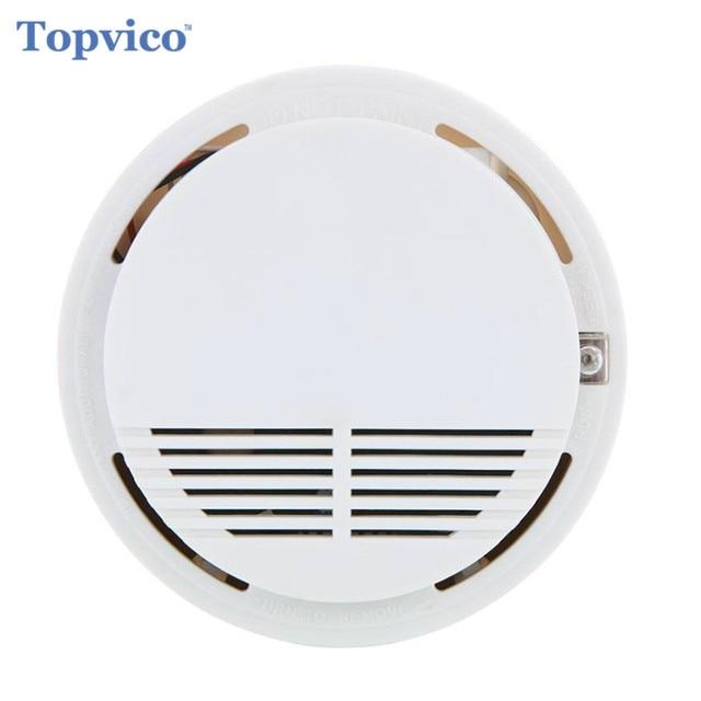 Topvico 433 mhz Sensor de humo Detector alarma inalámbrica de incendios casa seguridad inteligente hogar seguridad GSM sistemas de alarma