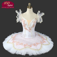 White Swan Lake Ballet Tutu Professional Stage Costumes Classical Performance Clothes Nutcracker LD0017