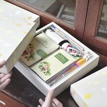 TUTU Cute Leather Notebooks Cartoon Agenda Planner Organizer Diary Weekly Planner Filofax Christmas Gift Stationery Set H0142