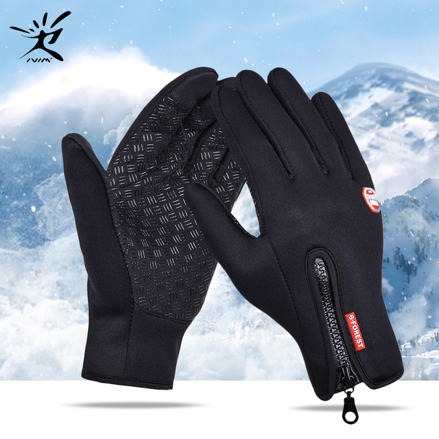 Full Finger Cycling Gloves For Men And Women Waterproof Wind-stopper Mittens New