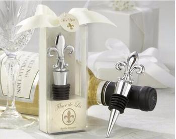 2017 Wholesale iris Design Wine Bottle Stopper Wedding Favors, 50 pieces / lot
