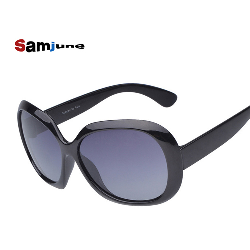 Samjune Nytt design Kvinnors polariserade solglasögon Luxury Sun Glasses Vintage fritidskläder varumärke Glasögon modeglas