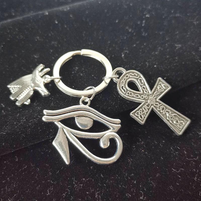 Eye Of Horus Key ring Egyptian Keychain pendant Pharoh Rah Egypt God bronze