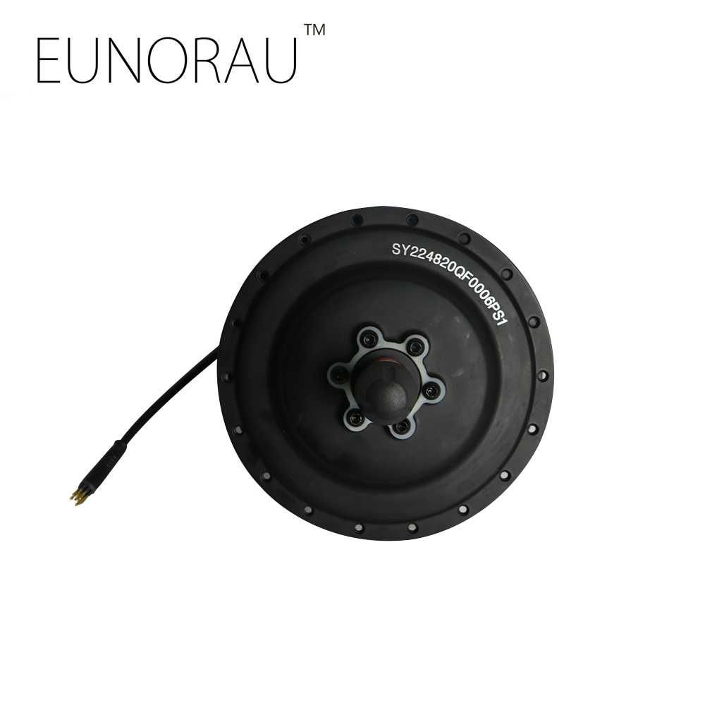 EUNORAU 36V500W DGW22C brushless geared high torque rear hub motor billet rear hub carriers for losi 5ive t