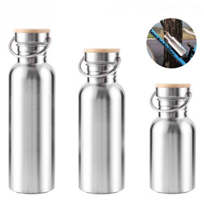 750 500 300 ml botella de agua de boca ancha de acero inoxidable ciclo montaña escalada deportes jarra de agua
