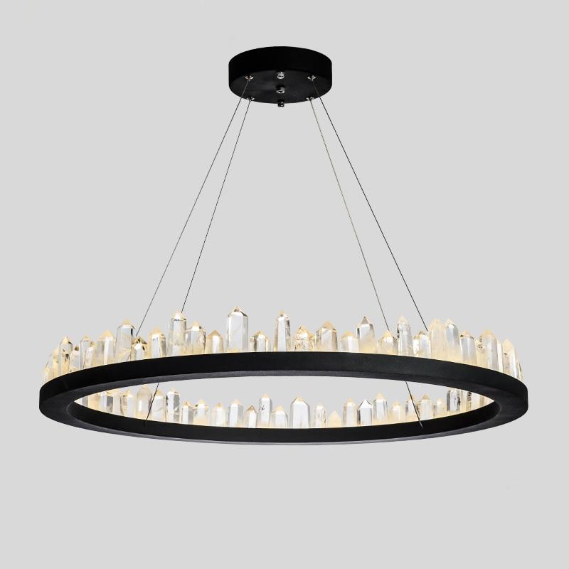Modern Led Chandelier Lighting With Remote Control Aluminum Lustre Ring Lamp For Living Room Bedroom Restaurant