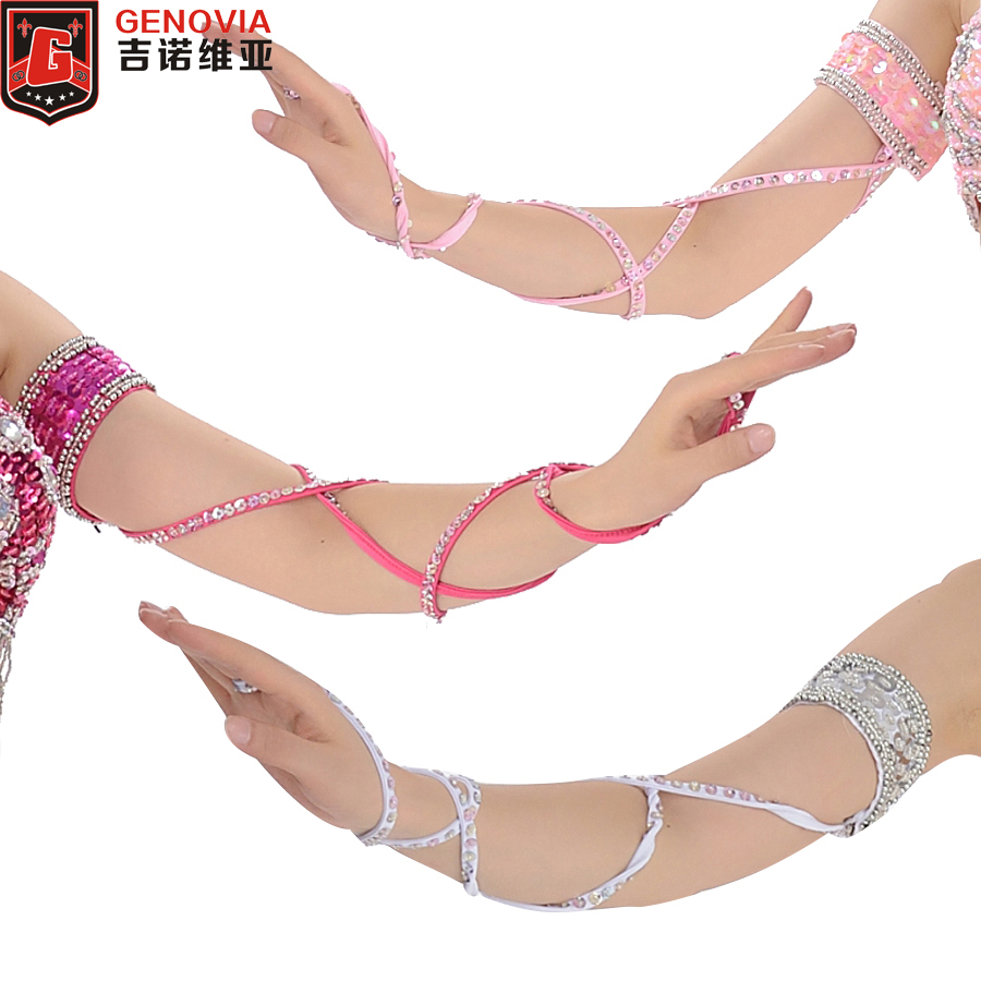 2019 11 Colour Est Belly Dance Accessories 1piece Stretch Cross Strap Adjustable Sequins Belly Dance Armband