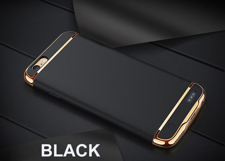 bilder für Für iPhone 6 6 S 7 Plus Wiederaufladbare Externe Unterstützungsbatteriekasten Energienbank für iPhone 6 6 S 7 Telefon Batteria Ladegerät Fall abdeckung