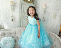 Girls Customes For Children Snowflake Ice Child Snow Queen Dress Of Snow Anna Else Custome Princess