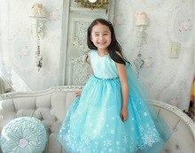 Âge 2-10Y coutumes des Filles pour enfants flocon de neige glace enfant snow queen robe de neige anna d'autre personnalisé princesse elza costume