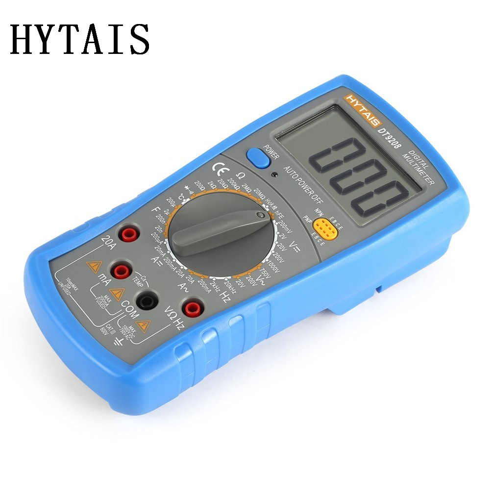 Hytais Dt9208 Digital Multimeter 1999 Counts Ac Dc Ammeter Voltmeter Lcd Ohm Circuit Checker Portable Resistance Voltage Temperature Tester Meter In Multimeters From Tools On