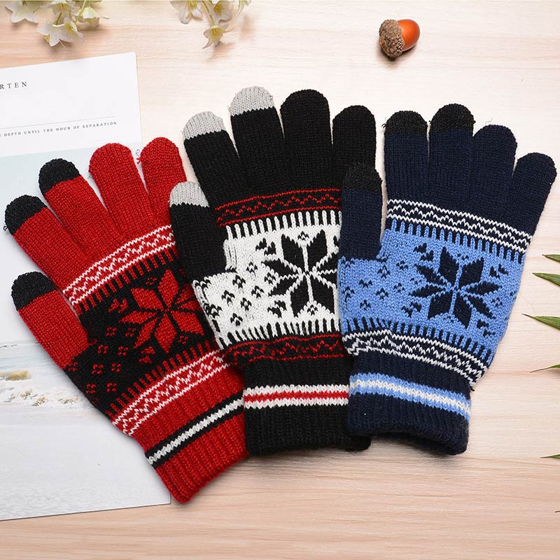 2018 Fashion Autumn Winter Men Women Knitted Gloves Keep Warm Fitness Touchable Screen Glove For Mobile Phone iPad Tablet FS99