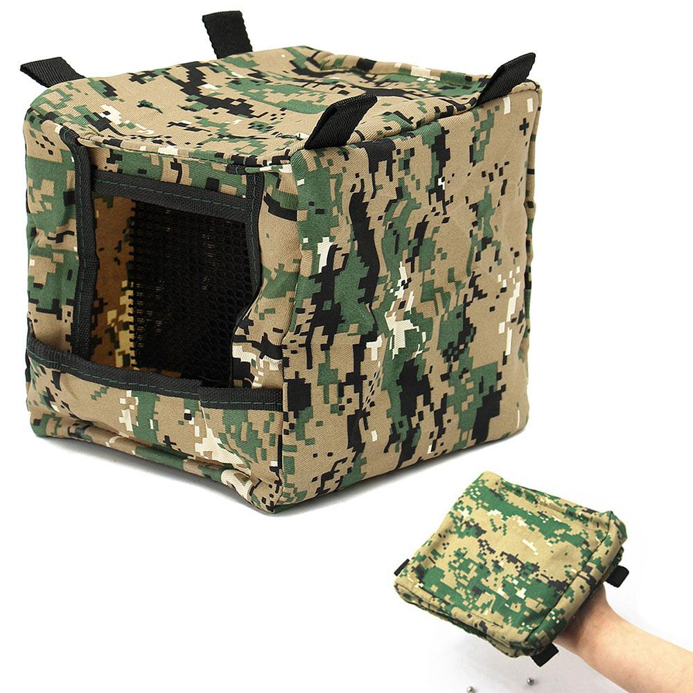 Foldable Slingshot Arget Box Cloth Target Box Recycle Shooting Archery Hunting Catapult Case Holder Camouflage Slingshot Box