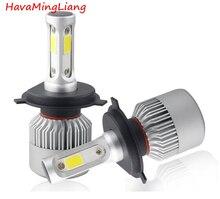 Brand light S2 H4 H7 H1 COB LED Headlight Bulbs H11 H13 12V 9005 9006 H3 9004 9007 9012 72W 8000LM Car LED lamp Fog Light 6500K