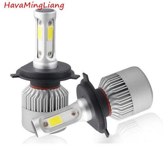 Marke licht S2 H4 H7 H1 COB FÜHRTE Scheinwerferlampen H11 H13 12 V 9005 9006 H3 9004 9007 9012 72 Watt 8000LM Auto FÜHRTE lampe Nebelscheinwerfer 6500 Karat