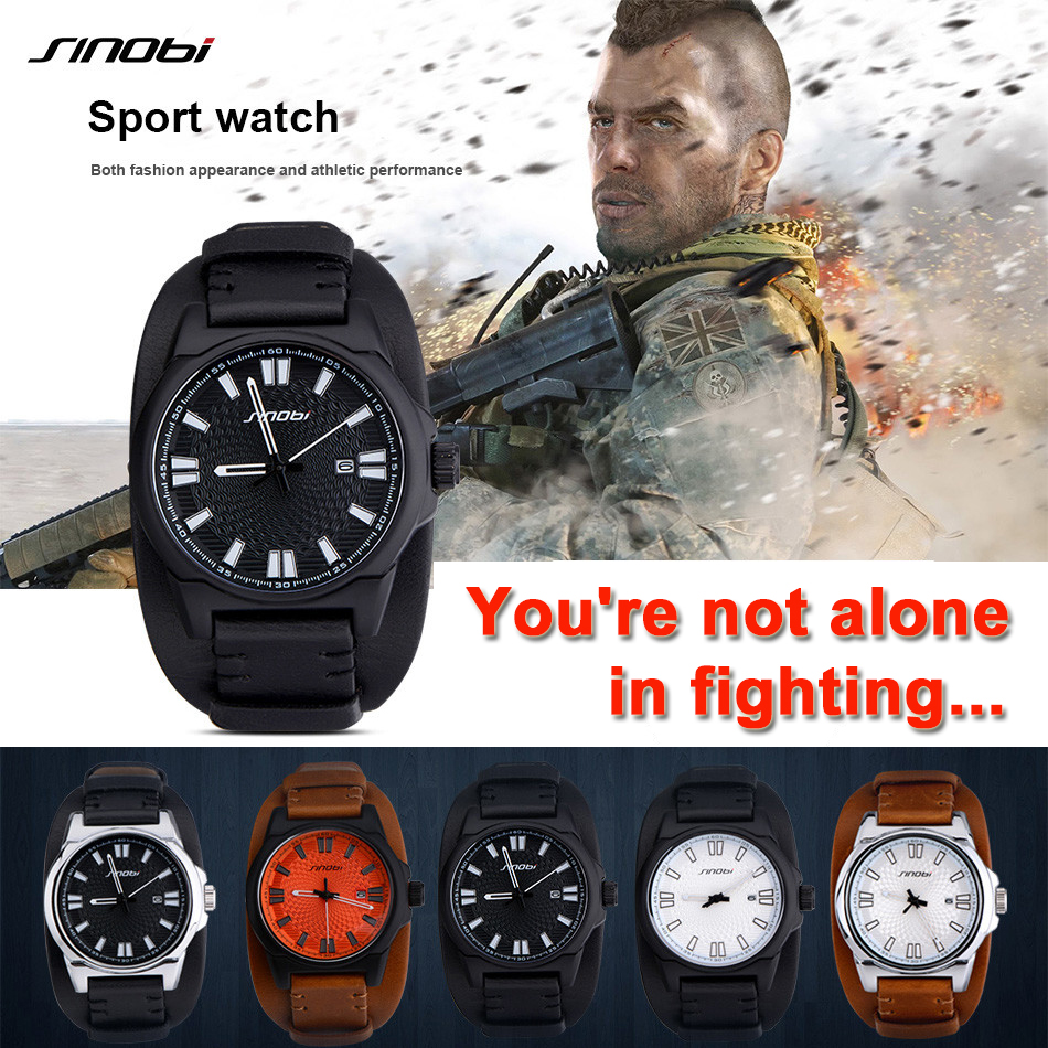 Men's Military Watch Waterproof Sport Wrist Watch Men Clock Luxury Brand Casual Watches Leather Watchband reloj deportivo hombre