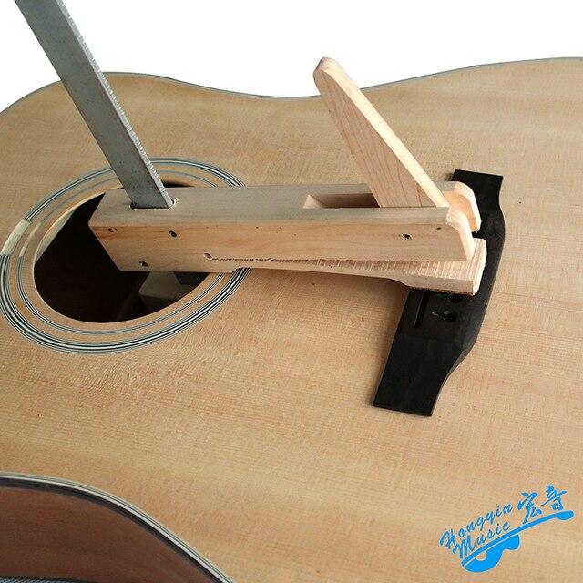 Hand-made Hard Maple Madeira Ferro Braçadeira Garganta Profunda Para Guitarra Violino Violoncelo Ponte F Forma Dispositivo Elétrico De Madeira Madeira