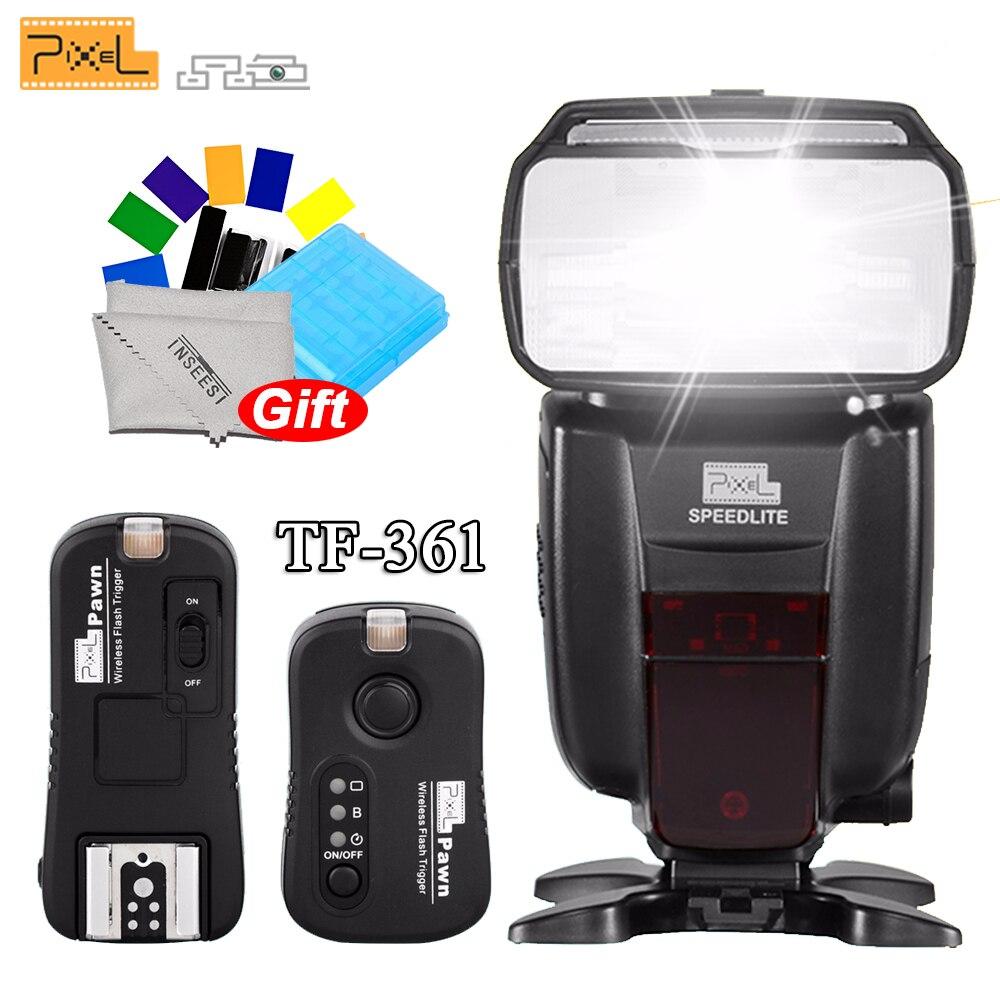 все цены на PIXEL X800C Standard Wireless Flash Speedlite E-TTL/M/Mult + Pixel TF-361 Wireless Remote Flash Trigger Receiver for Canon EOS онлайн