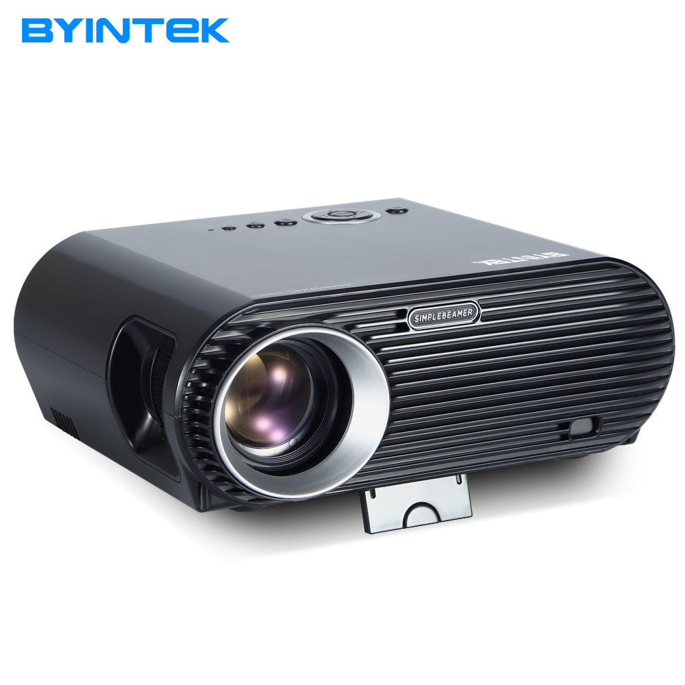 все цены на BYINTEK MOON BL127 New Design 720P 1080P Movie Cinema USB HDMI fulL hD VGA Home Theater Projector Kids video projectors онлайн