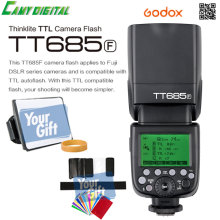 In the Stock Godox TTL II Autoflash TT685F Camera Flash 2.4G wireless HSS 1/8000s GN60+Gift Kit For Fuji X-Pro2/X-T20/X-T1/X-T2