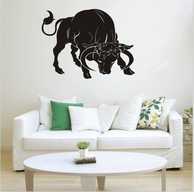 Bovine generation carved decorative wall stickers bedroom living ...