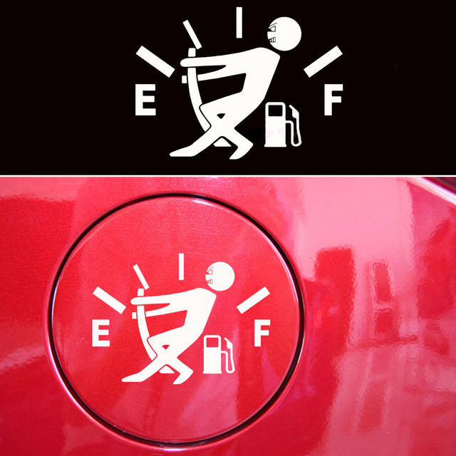 Pcs Funny Car Sticker Pull Fuel Tank Pointer To Full Hellaflush - Car sign with namesonline get cheap d led sign aliexpresscom alibaba group