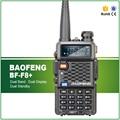 O envio gratuito de new baofeng bf-f8 + dual band vhf/uhf 136-174 mhz & 400-520 mhz walkie talkie rádio amador transceptores preto clássico