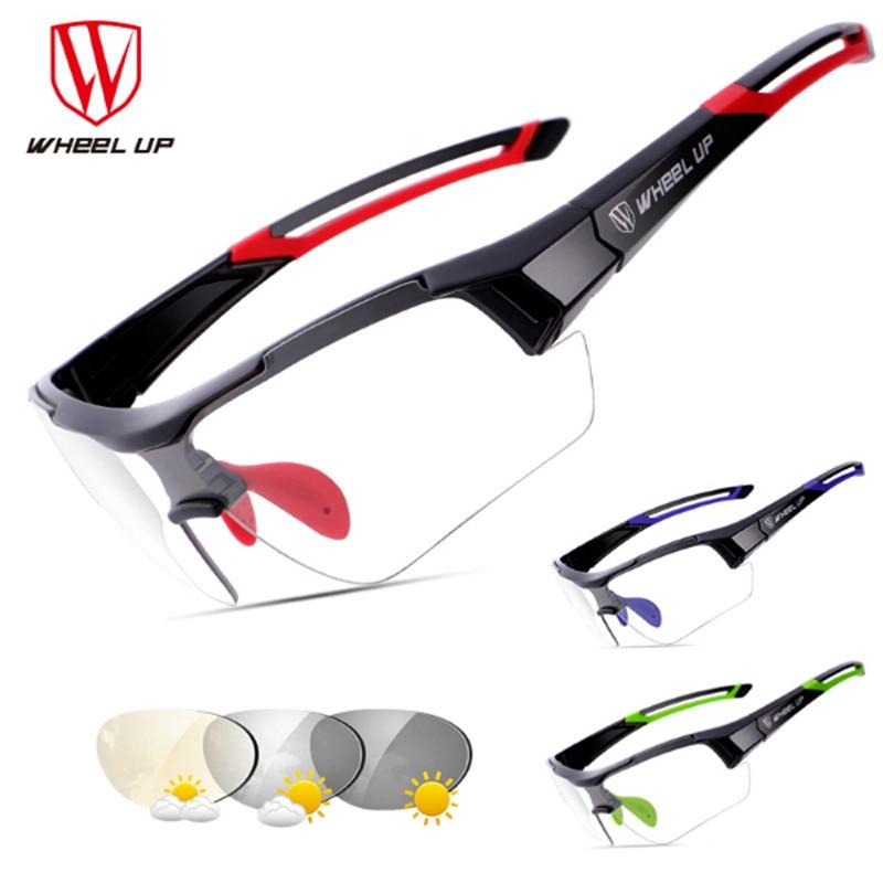 WHEEL UP Polarized Photochromic Cycling Glasses Bike Glasses Outdoor Sports Bicycle Sunglasses Goggles Eyewear Myopia Frame