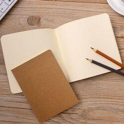 5 Stks/set Eenvoudige Vintage Kraftpapier Notebook Vlakte Kleur Schetsboek Soft Cover Schrijven Supply Dagboek Memo Pad Kantoorbenodigdheden