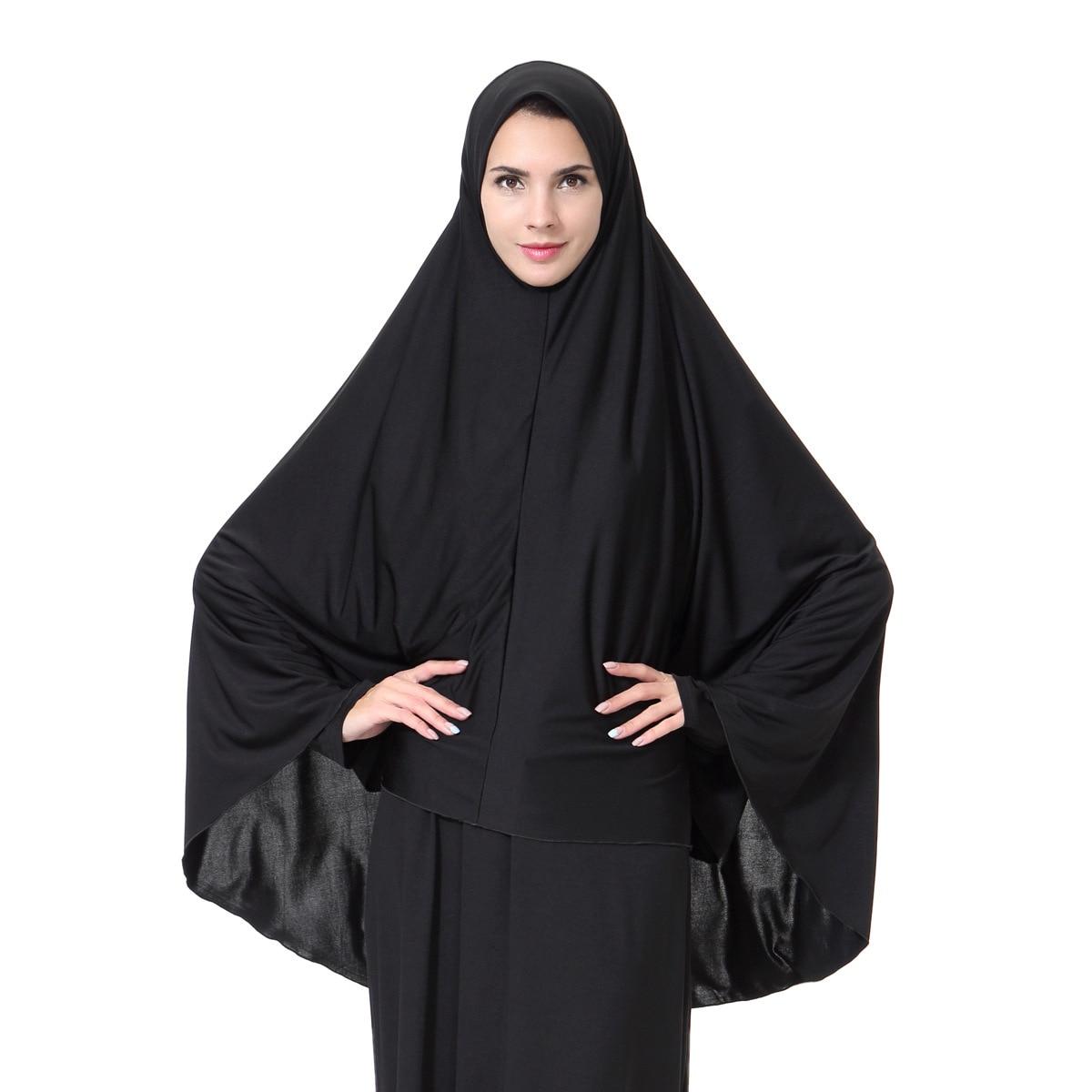 Gold polyester khimar with built in niqab hijab abaya set skirt party eid. Girl Black Colours Hijab Muslim Niqab Burqa Veil Muslim ...