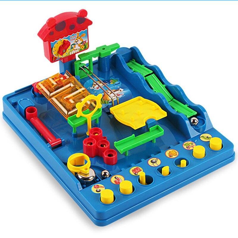 New Montessori desktop toys Waterpark of the Beckham Adventure Child Adult Puzzle Desktop Game Fun Passage Maze Toys maureen child triple the fun