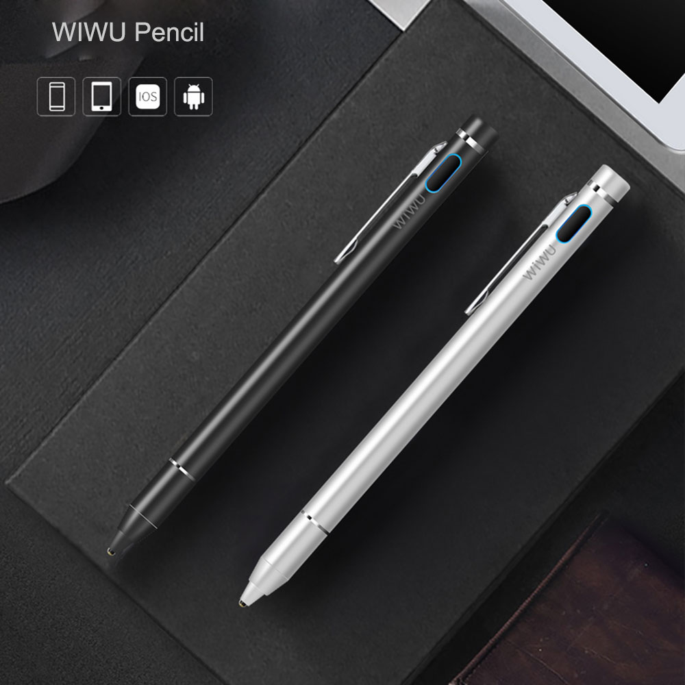 WIWU Stylus Pen for Apple iPad iPhone High Precision Touch Pencil Rechargeable Pen for iPad Pro Universal Tablet Stylus Pencil touchpad stylus pen for ipad blue