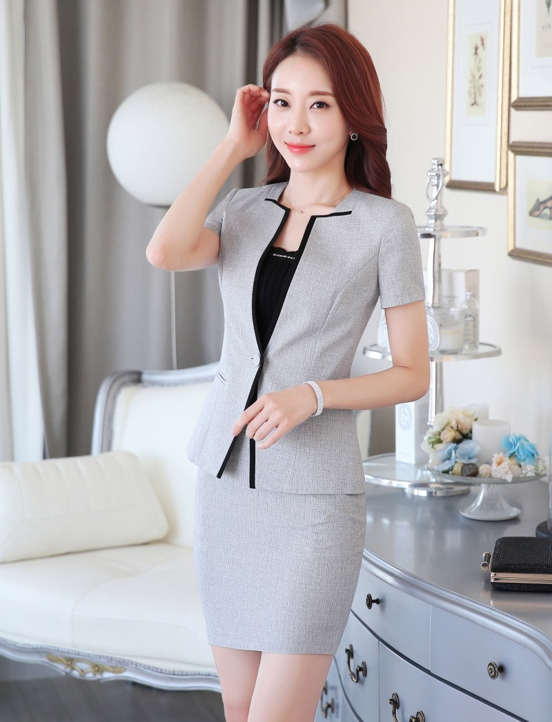 Summer Formal Female Skirt Suits For Women Business Suits