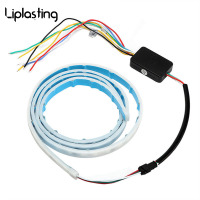 Liplasting Ice Blue Red Yellow White Multi Function RGB LED Strip Trunk Tail Light Brake Lamp