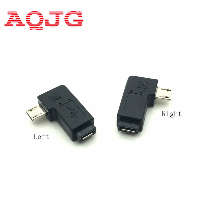 1 Pair Right Left Angle Micro USB Male 90 Degree USB Male to Micro Female Plug Adapters Hot Worldwdie AQJG 20pcs rca 90 right angle male to female phono adapters audio av plug connector