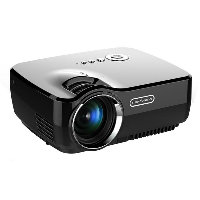 Mini Proyector LED Portátil de Entretenimiento En Casa de Películas HD 800x600 1200 lúmenes Del Proyector Versión Básica AV VGA USB SD HDMI TV OD # S