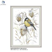 Joy Sunday Bird in late Autumn Patterns DIY Hand Cross Stitch Kits Printed DMC 11CT 14CT Counted Embroidery Crafts Home Decor