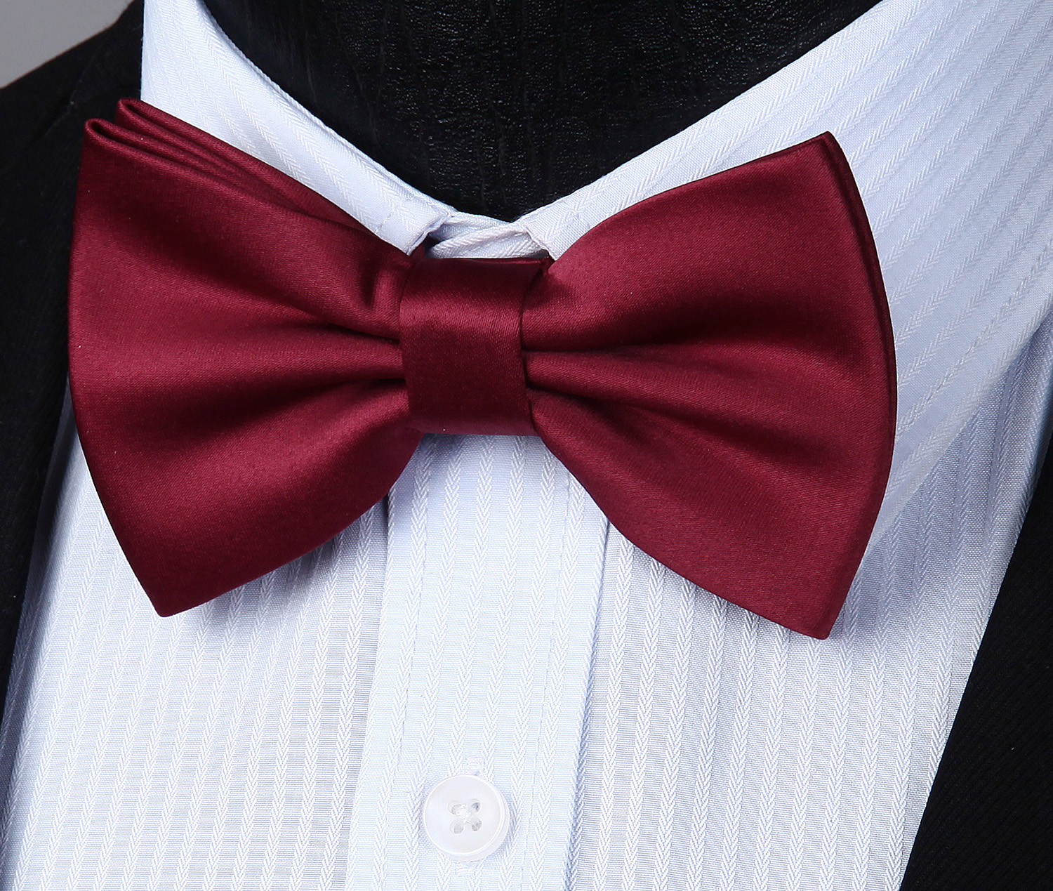 Pre-tied bow tie Wholesale Adjustable Solid Double Fold & Single Fold Butterfly