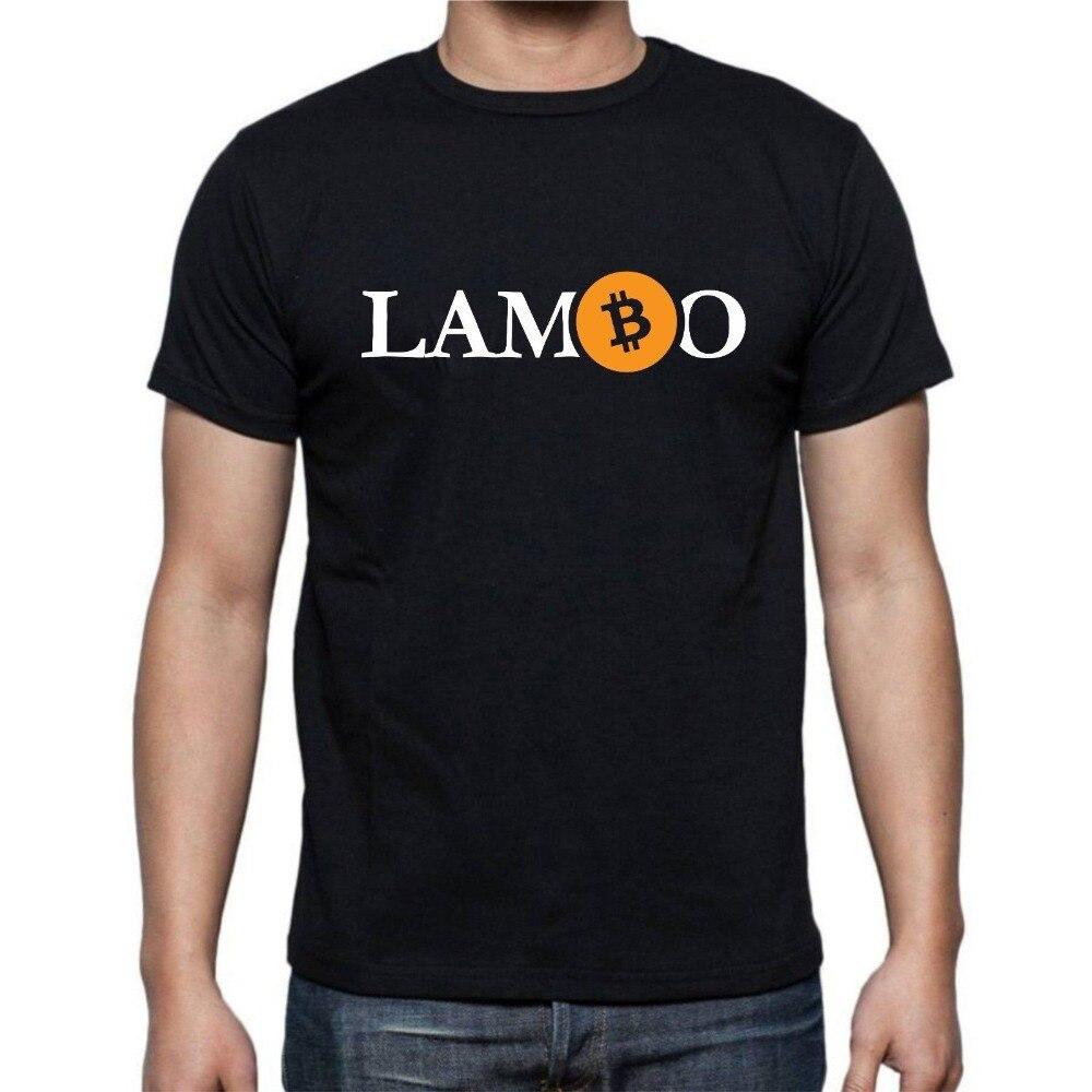 Nova Moda Dos Homens de Manga Curta t-shirt do logotipo Lambo BTC Bitcoin Cryptocurrency Crypto Hödl S-XXL Topos Básicos