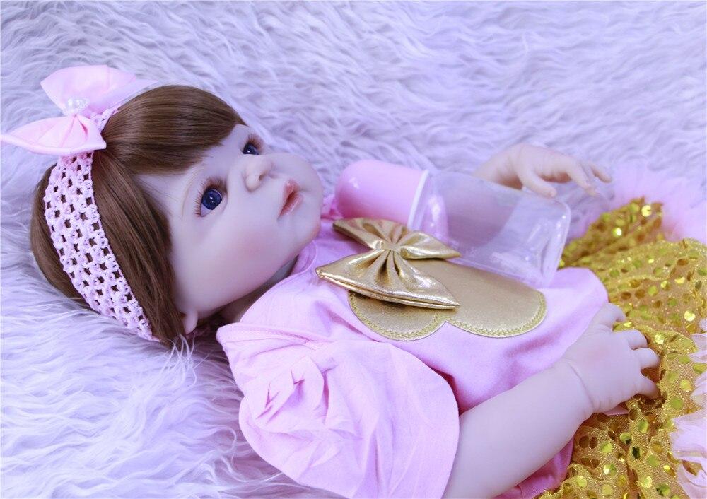 57 cm bebe reborn poupée silicone reborn reborn bébé poupées lol poupée brinquedos boneca reborn cadeau de noel pour filles dollmai - 5