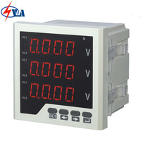 3AV33 Panel Size 96 96mm High Quality White And Black Electric Voltage Meter AC 220V Three