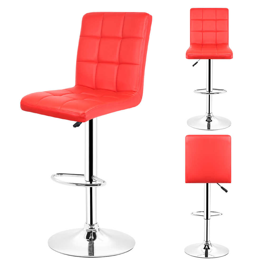 Swell Jeobest 2Pcs Leather Kitchen Bar Stools Red Leather Mini Bar Adjustable Bar Chair Breakfast Bar Stool Swivel Free Shipping Hwc Unemploymentrelief Wooden Chair Designs For Living Room Unemploymentrelieforg