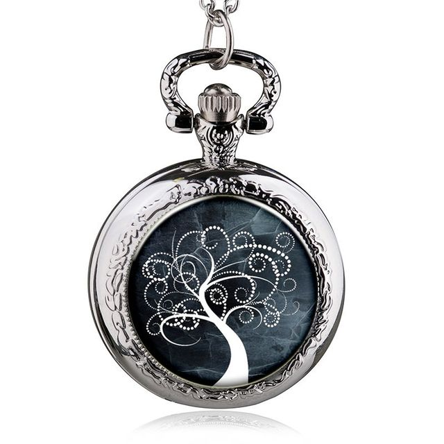 Special Design Steampunk Life Of Tree Movie Theme Necklace Pendant Pocket Watch