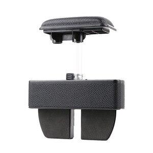 Image 4 - Boîte de rangement pour la console centrale de voiture en cuir artificiel universel, extension 2019, support pour accoudoir de voiture
