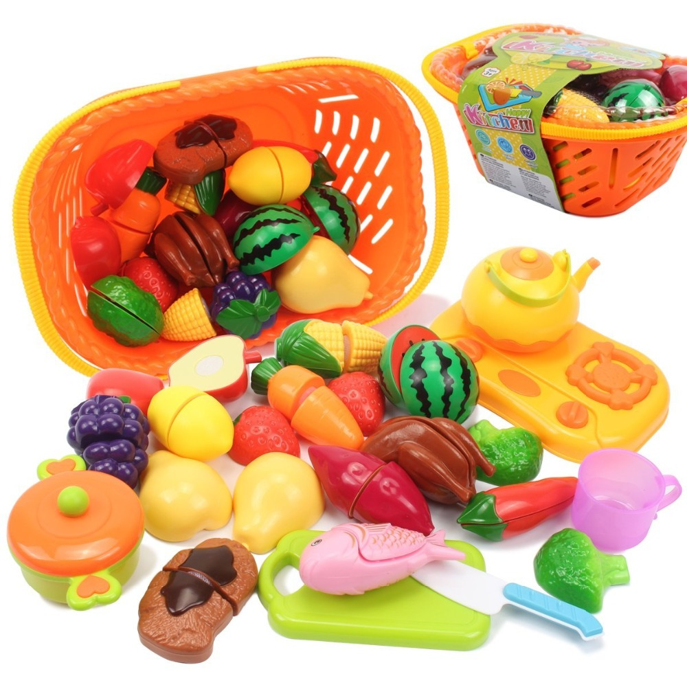 Kids Pretend Food Play Kitchen Toys 20 Piece Learning