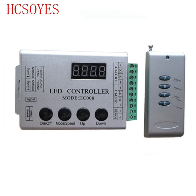 DC12V HC008 4 Keys rgb led pixel controller programmable control 2048 pixel,133 effect modes,ws2811controllerDC12V HC008 4 Keys rgb led pixel controller programmable control 2048 pixel,133 effect modes,ws2811controller