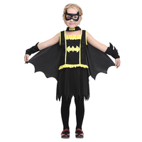 Childrens Batman Clothes Sets Halloween Costume for Kids Kids Anime Cosplay Party Hero Role Playing Performance Girls Costumes